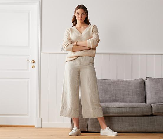 Lniane spodnie palazzo