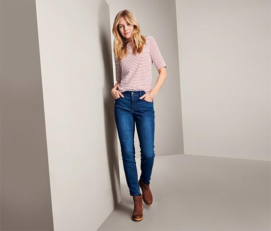 Damskie spodnie dżinsowe o długości do kostek