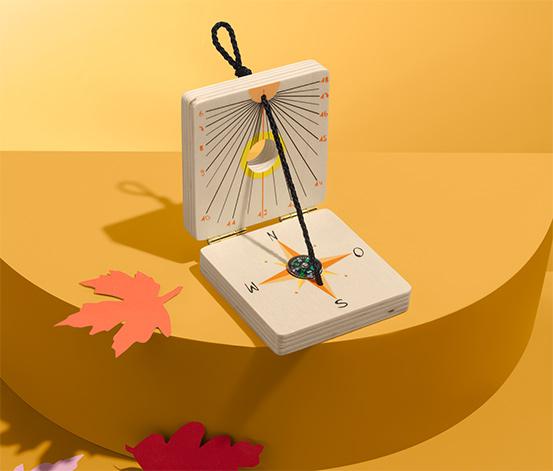 Zegar słoneczny z kompasem dla dzieci