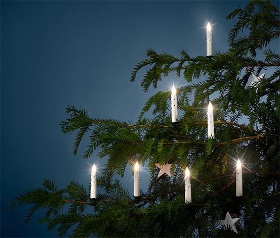 Świeczki LED na choinkę, 12 sztuk