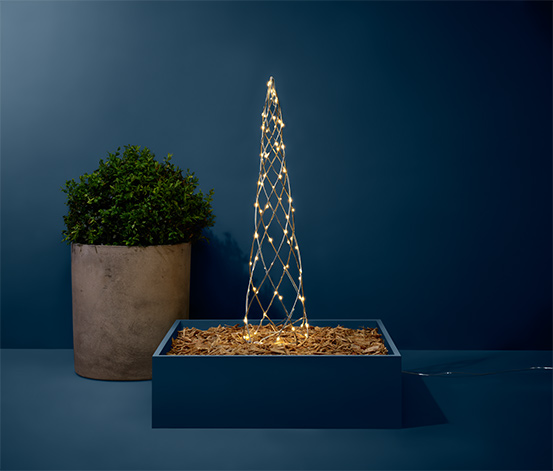 Metalowe drzewko LED