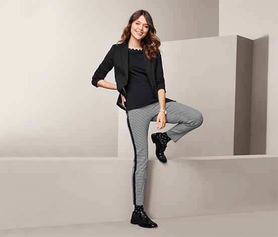 Damskie spodnie ze streczu o długości do kostek