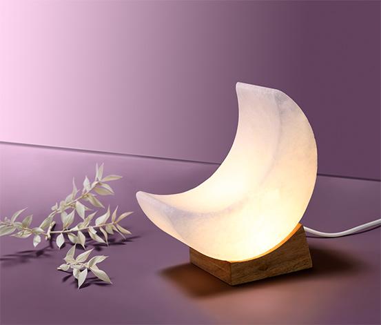 Lampa solna LED w kształcie księżyca