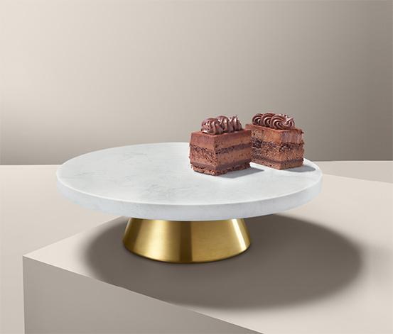 Patera na ciasto i talerz do serwowania