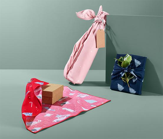 Papier świąteczny z tkaniny
