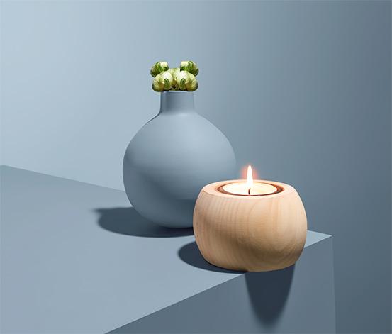 Świecznik tealight z drewna limbowego