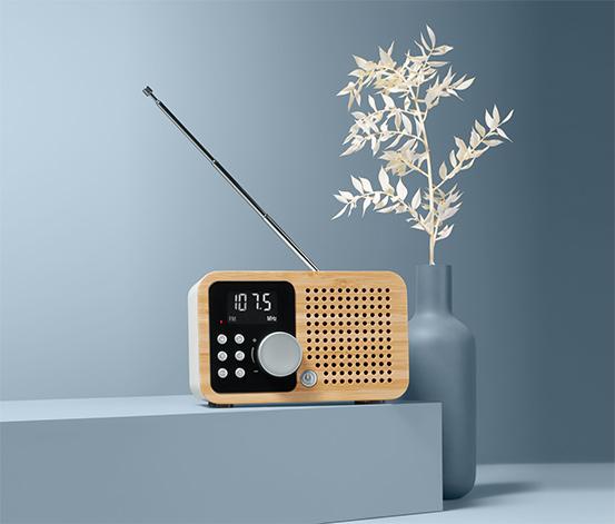 Kompaktowe radio FM »Bambus«