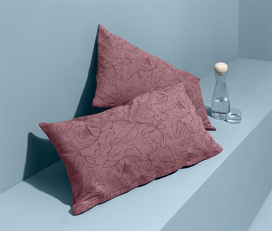 Poszewki na poduszki z flaneli o gęstym splocie, 2 sztuki, każda ok. 80 x 40 cm