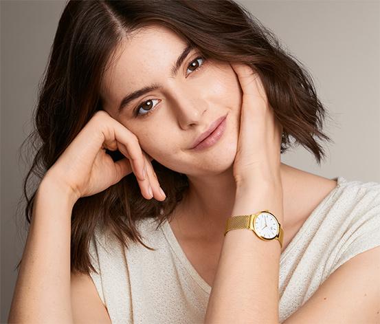 Damski zegarek z bransoletką mediolańską