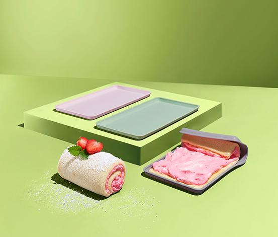 Zestaw 3 silikonowych mat do pieczenia ciast - rolad