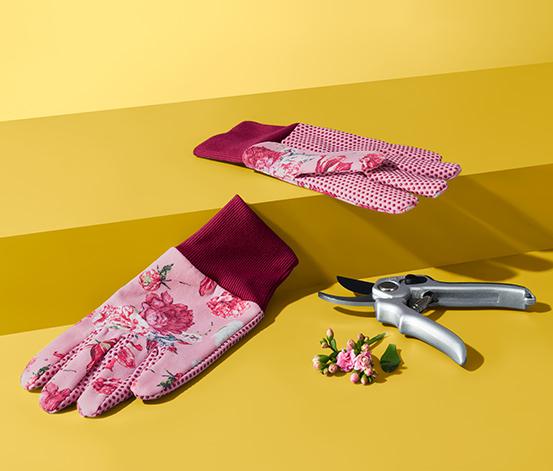 Rękawice ogrodowe w kwiaty
