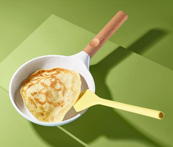 Silikonowa łopatka do omletów i naleśników, żółta