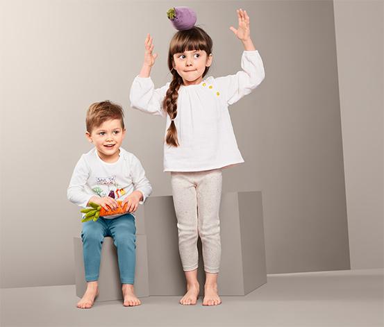 Dziecięce legginsy z trykotu, 2 pary