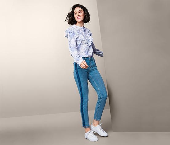 Damskie spodnie dżinsowe «slimfit» o długości do kostek