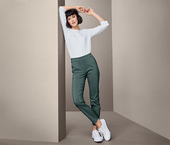 Spodnie ze stretchu o długości do kostki
