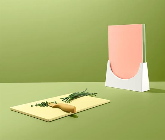 Deski do krojenia ze stojakiem, 3 sztuki