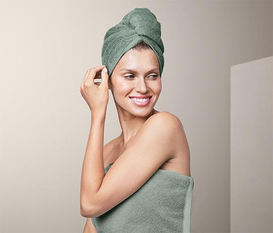 Ręcznik-turban, zielony
