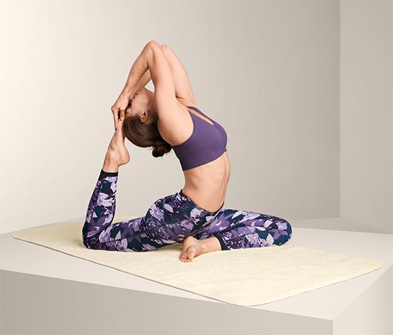 Mata do jogi z żywej wełny
