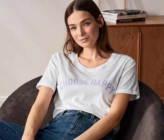 Koszulka z bawełny ekologicznej, z nadrukiem