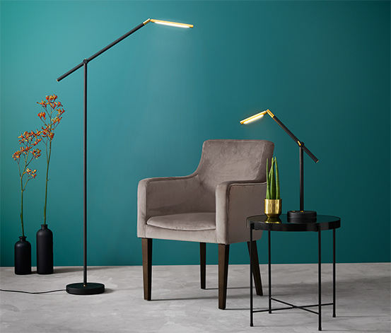 Lampa stojąca slim, LED